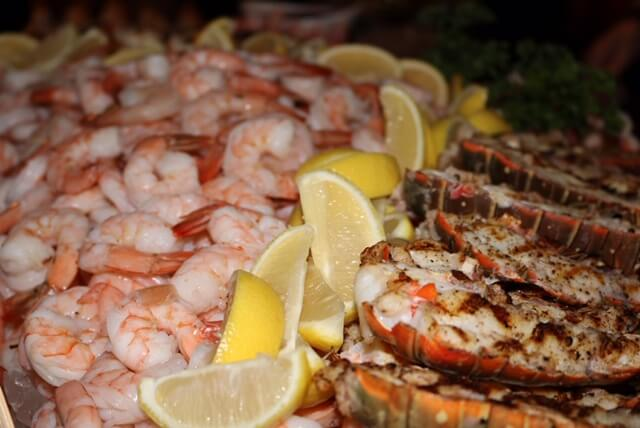 seafood buffet catered event