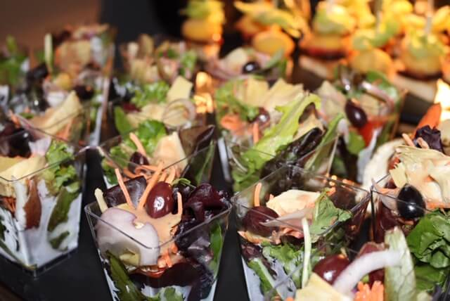 salad shooters event catering