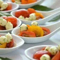 caprese catered appetizers - cocktail hour food service