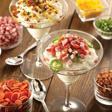 mashed potato station - event catering